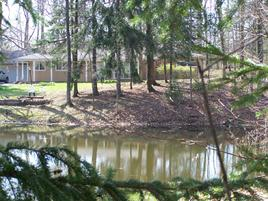 Charles Brush Lodge, fishing pond