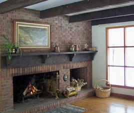 Living room Fireplace, Charles Brush Lodge